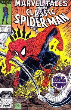 Marvel Tales #223 feat. Spider-Man cover art by Todd McFarlane