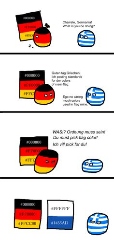 The Importance of Color Regulation ( Germany, Greece ) by Not Existor #polandball #countryball