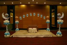 Stage Decorations, Balloon Decorations, Helium Balloons, Birthday Candles, Bubbles, Baby Boys, Babyshower, Laughter, Young Boys