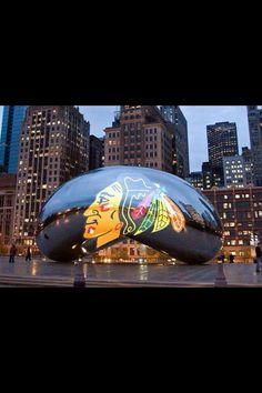Chicago Blackhawks take over The Bean.