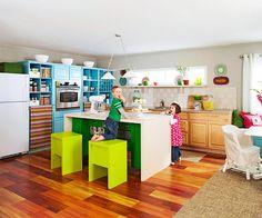 Fun bright kitchen!