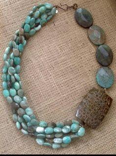 Collar piedras turquesas