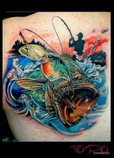 Bass Fishing Tattoo