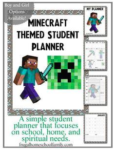 Minecraft School Planner and Calendar