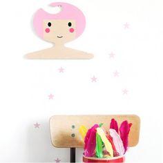 #Kapstok - #RedHandGang - #roze - #kinderkamer - coat hook #kidsroom #nursery #psikhouvanjou #littlethingz2