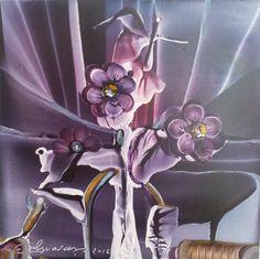 Ramos de Violetas del Jardín de Orion. 15x15.cm