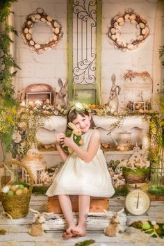 Elegant Easter ~ Love this Photography Backdrop from Baby Dream Backdrops.