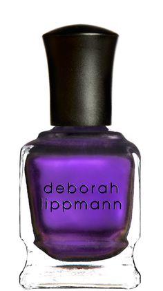 Not a huge purple nail person but, I'd rock this.  I love Deborah Lippman anyway!
