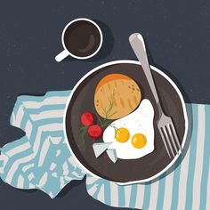 Irina Kruglova on Behance Coffee Illustration, Digital Illustration, Graphic Illustration, Graphic Art, Home Design, Design Art, Abstract Iphone Wallpaper, Posca Art, Food Drawing