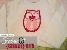 Fabric and (Glitter) HTV: Silhouette Tutorial ~ Silhouette School