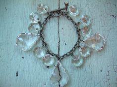 Repurposed Bracelet  - vintage chandelier crystals