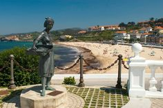 Playa de Comillas Statue Of Liberty, Beautiful, Natural, Travel, Seaside, Beaches, Vacations, Scenery, Statue Of Liberty Facts