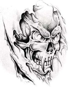 Evil Skull Tattoo Designs | Skulls are often combined with :