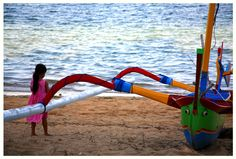 Afternoon colour on the beach at Sanur, Bali