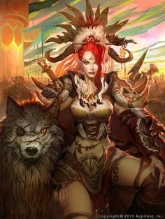 Artist: Mo Li aka byron007 - Title: The woman warrior 2 - Card: Unknown