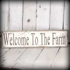 Welcome to the Farm-painted and distressed wood sign - Rustic, Western, Home Decor, Wall Art, Brown, Turquoise