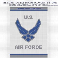 UNITED STATES AIR FORCE CROCHET AFGHAN PATTERN GRAPH .PDF