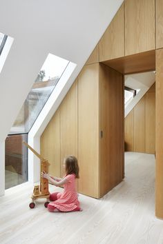 Traditionally-built detached house with double garage and no cellar in Bad Wörishofen by German architecture studio CAMA A. Attic Renovation, Attic Remodel, Attic Rooms, Attic Spaces, Attic Bathroom, Bathroom Grey, Interior Architecture, Interior And Exterior, Interior Design