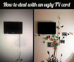 """Explore our web site for additional information on """"tv wall mount hide cords"""". It is actually an exceptional area to learn more. Hide Tv Cords, Hide Cables, Hide Wires, Hiding Cords, Cacher Cable Tv, Tv Escondida, Deco Dyi, Hidden Tv, Ideias Diy"""