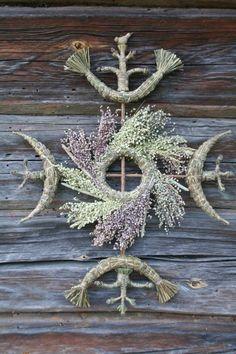 Lietuva gamtinukai Gintvile Giedraitiene Wicca, Pagan, Land Art, Something Beautiful, How To Introduce Yourself, Folk Art, Yule, Symbols, Diy And Crafts