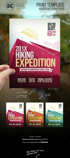 Hiking Adventure Flyer Template PSD. Download here: http://graphicriver.net/item/hiking-adventure-flyer/15259713?ref=ksioks