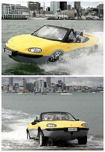 These awesome cars that also serve as boats to help sail the seven seas... Even though no one knows why anyone would want to do that. But even so, sail away! 8) PANTHER CAR Is it a Jeep? Is it a speedboat?...