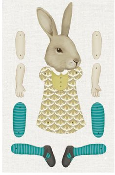bunny art doll