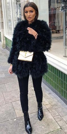 4a22a2fcade 25 Chic Fur Coat Outfits Ideas To Look Extremely Adorable