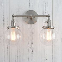 Phansthy glass wall sconce 2 light industrial wall sconce 59 permo double sconce vintage industrial antique 2 lights wall sconces with dual mini 59 aloadofball Choice Image