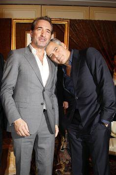 Jean Dujardin et George Clooney à Paris pour l'avant-première de Monuments Men