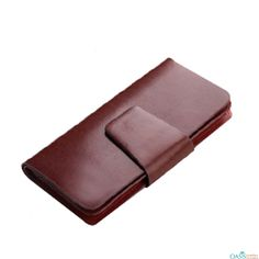 Keep your money safe in Blossom Tan Leather Men Clutch Wallet.