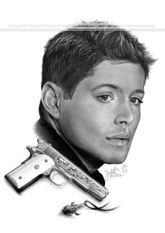 Jensen Ackles as Dean Winchester from Supernatural. Fan Art. Incredible detail