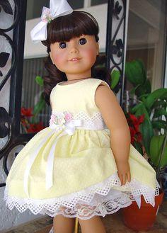 "American Girl dress, American Girl Spring Dress, Chatty Cathy,  Doll dress, 18"" doll clothes. by ADollsFancy"