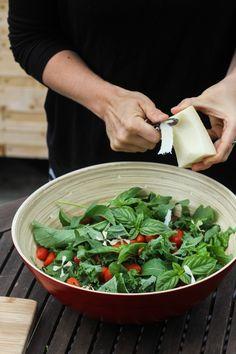 DISH | tomato basil salad + maple balsamic dressing -