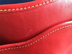 NEW-398-Dooney-Bourke-Shearling-Red-Florentine-Leather-Saddle-Cross-Body-Bag