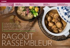 Ragoût rassembleur - La Presse+ I Foods, Chili, Biscuits, Pork, Dishes, Dumplings, Favorite Recipes, Meal, Eat