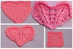 Hearts, Hearts, Hearts…Part 1Free Video-Knitting patterns for Valentine's Day! Just click, enjoy and knit!