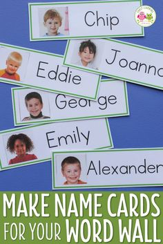 Kids love seeing their name cards up on your classroom word wall. Make your own name cards with the free templates and directions in this article. The name cards can also be used for many literacy activities and games. They are perfect for kids in prescho