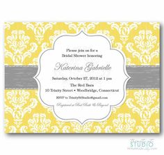 Bridal Shower Invitation - Shabby Chic Vintage Damask - Birthday Party Wedding or Baby - PRINTABLE DIY Digital Design