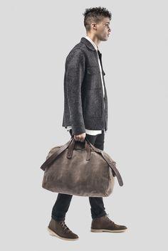 7beb8043e895 m0851   Boston   DuffleBag   DarkBrown   Leather Weekender Bags