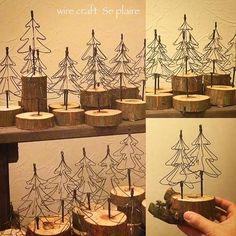 * * * ♬ *  #杉の丸太 バージョンも♬ 作っています✨ * * カタチや高さもバラバラ✨△□○✨並べると楽しいな〜ワイヤーの木も1本だったり 2本だったり * * ドライや 木の実で 少しだけドレスアップさせよう * *  #販売用#Xmastree#ミニツリー#空想くらげ#12/23#クリスマス#アートマーケット#イベント#展示#空想の世界#くらげ#不思議#生き物#空想植物#流木#鉄線#クラゲ#オブジェ#ワイヤーアート#ワイヤークラフト#wireart#wirework#wirecraft#jellyfish#スプレール#楽しむ♡