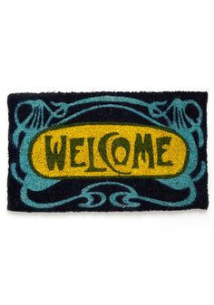 The Art Deco Welcome Hand Woven Coir Door Mat is the perfect way to welcome guests to your bungalow. Constructed of the highest quality coconut fiber,. Art Nouveau, Art Deco, Entryway Art, Paris Metro, Coir Doormat, Up House, Dark House, Welcome Mats, Boutique
