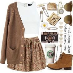 Outfit ideas for fall indie fall outfits, spring outfits, winter outfits,. Indie Fall Outfits, Spring Outfits, Casual Outfits, Winter Outfits, Cardigan Outfits, Skirt Outfits, Look Fashion, Autumn Fashion, Fashion Outfits