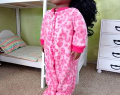 """Fleece Footed PJ - American Girl 18"""" Doll Clothes"""
