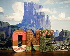 Moana Paper Mache Letters - cost is for the word ONE
