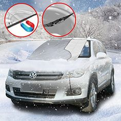 URBAN HABITAT Frost Windshield Cover, Ice and Frost Guard Fits SUV, Truck & Car Windshields, Magnetic Snow Multi-used as Outdoors Picnic…