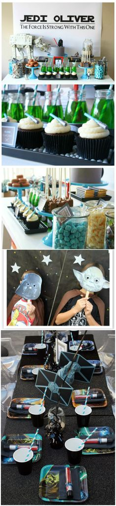 22 ideas birthday party food for kids ideas star wars Star Wars Party, Theme Star Wars, Birthday Table, Star Wars Birthday, 4th Birthday Parties, Birthday Kids, Birthday Cupcakes, Comment Dresser Une Table, Anniversaire Star Wars
