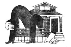 My piece for the Op-ed section of the New York Times out today! The article was about designing a better solution for housing. Got to draw a brick suburban bungalow, which is as fun to say as it is to draw. Rather crazy turnaround, 6.5 hours sketch to linocut finish but got it done! Short deadlines are so invigorating! a BIG thank you to amazing AD Josh Cochran