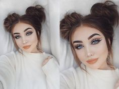 Messy Bun Tutorial (w/ hair extensions) also adding clip in bangs - YouTube
