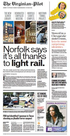 The Virginian-Pilot's front page for Tuesday, May 5, 2015.